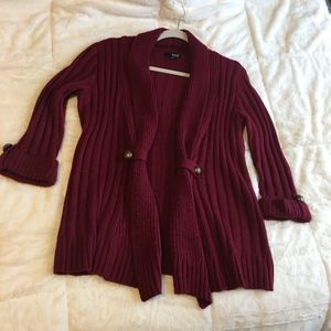A.N.A Sweater burgundy/red 3/4 length sleeves Sm